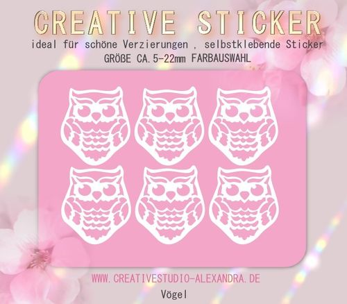 CREATIVE STICKER - Vögel 03