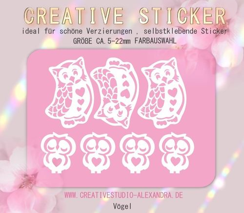 CREATIVE STICKER - Vögel 06
