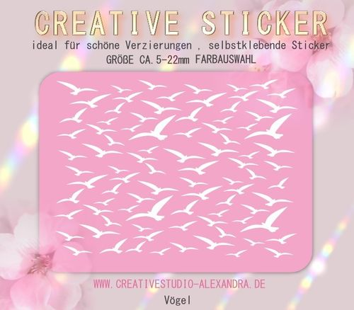 CREATIVE STICKER - Vögel 10