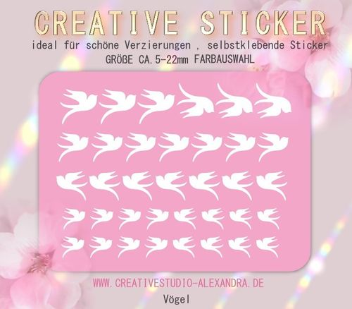 CREATIVE STICKER - Vögel 09