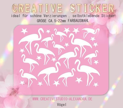 CREATIVE STICKER - Vögel 11