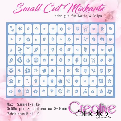 Airbrush Small Cut Mixkarte :04