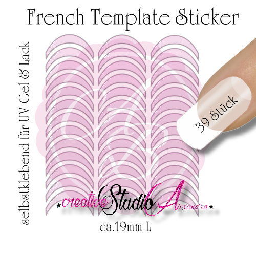 Airbrush Nailart French Template :01