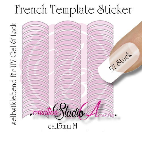 Airbrush Nailart French Template :05