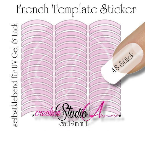 Airbrush Nailart French Template :04