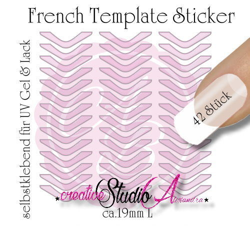 Airbrush Nailart French Template :13