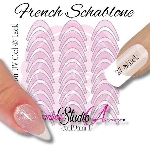 Airbrush Nailart French Template :10
