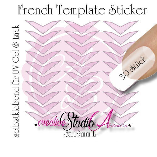 Airbrush Nailart French Template :16