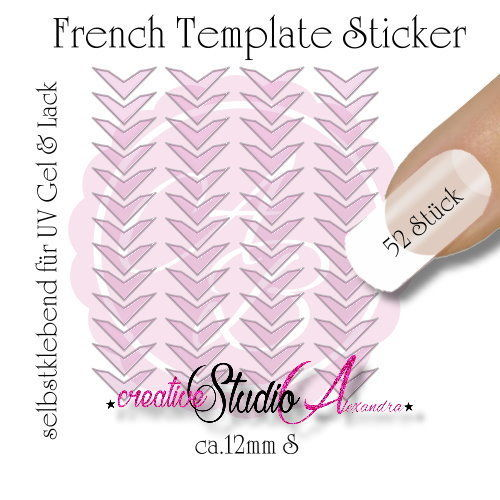 Airbrush Nailart French Template :18