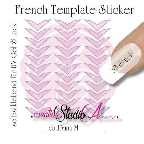 Airbrush Nailart French Template :17