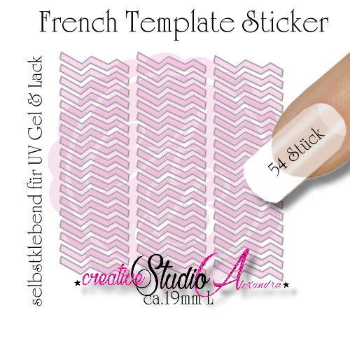 Airbrush Nailart French Template :19