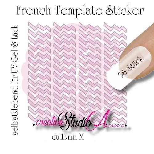 Airbrush Nailart French Template :20