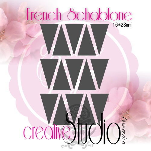 Airbrush Nailart French Template :23
