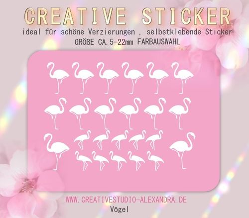 CREATIVE STICKER - Vögel 01