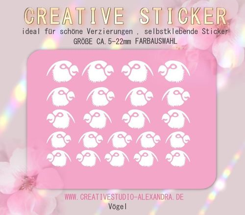 CREATIVE STICKER - Vögel 02