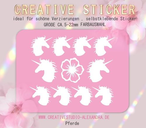 CREATIVE STICKER - Pferde 01