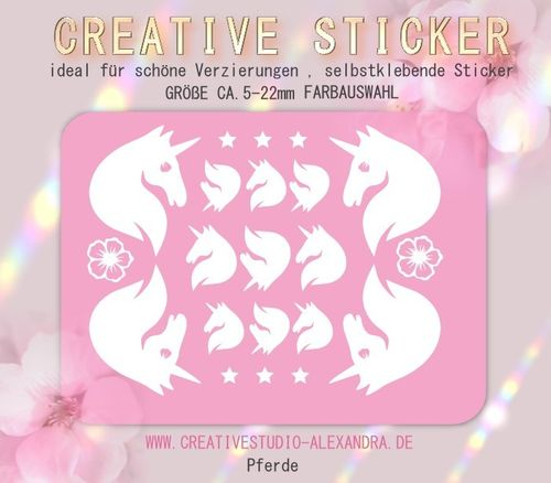 CREATIVE STICKER - Pferde 03