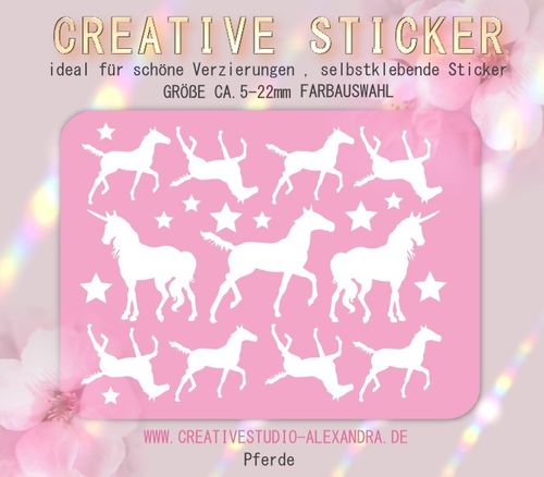 CREATIVE STICKER - Pferde 02
