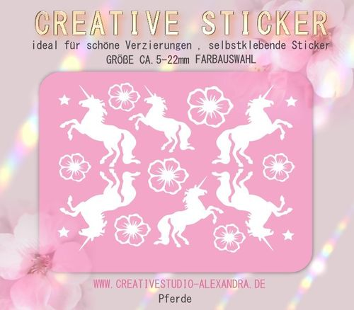 CREATIVE STICKER - Pferde 04