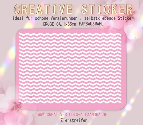 CREATIVE STICKER - Zierstreifen 05