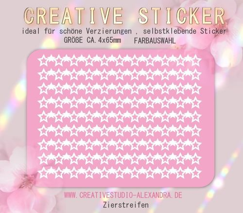 CREATIVE STICKER - Zierstreifen 11