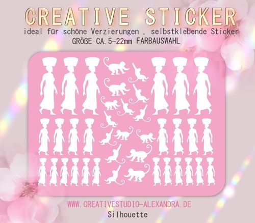 CREATIVE STICKER - Silhouette 07