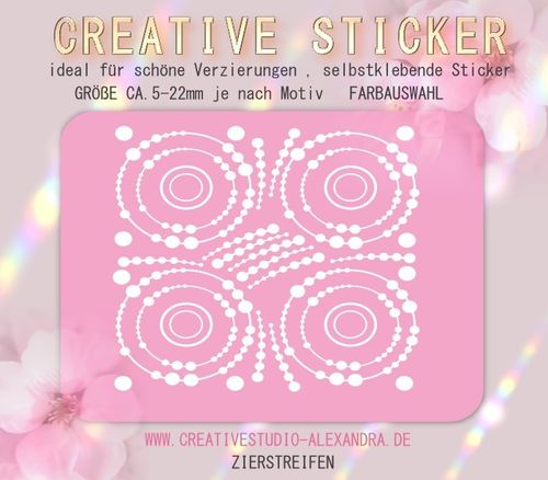 CREATIVE STICKER - Zierstreifen 20