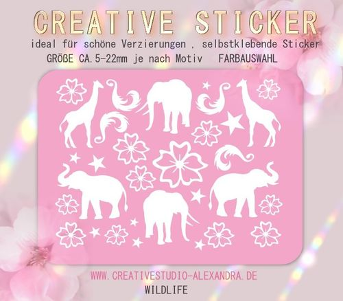 CREATIVE STICKER - Wildlife 03