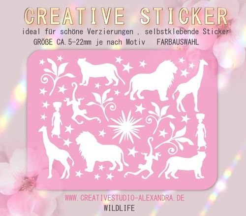 CREATIVE STICKER - Wildlife 04