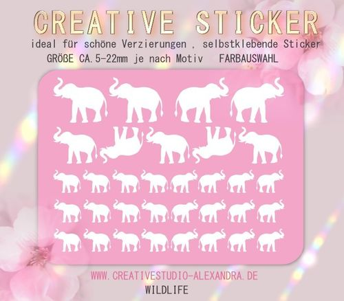 CREATIVE STICKER - Wildlife 07