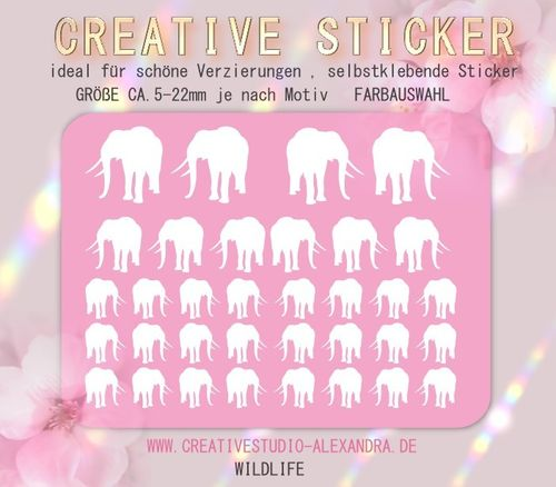 CREATIVE STICKER - Wildlife 08