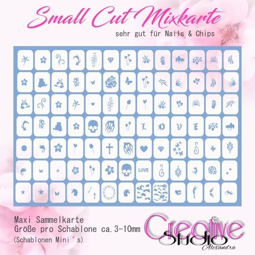 Airbrush Small Cut Mixkarte :02