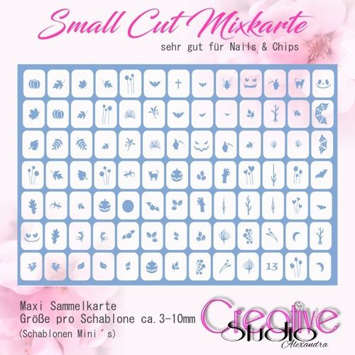 Airbrush Small Cut Mixkarte :03