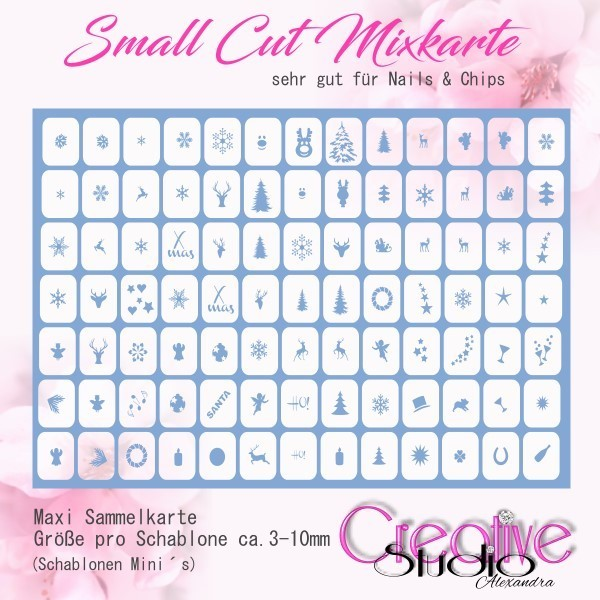 Airbrush Small Cut Mixkarte :06