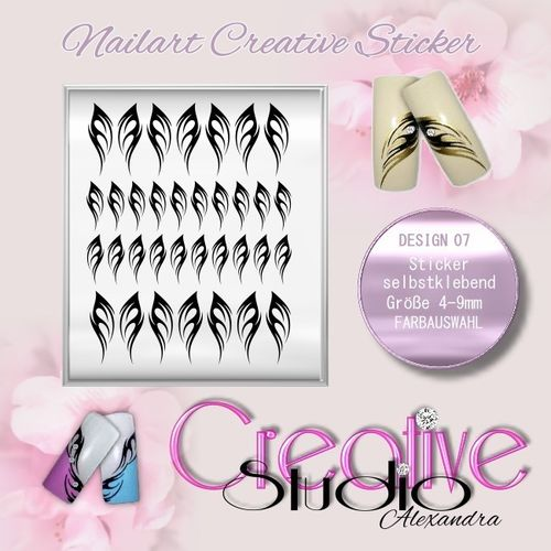 CREATIVE STICKER NAILART :07