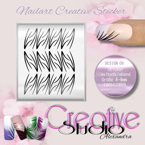 CREATIVE STICKER NAILART :09