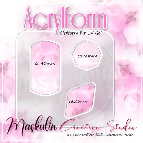 ACRYL FORM - MASKULIN